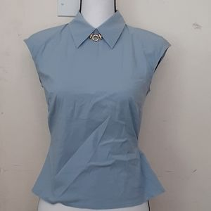 Prada light blue sleeveless blouse sz 42 (6)